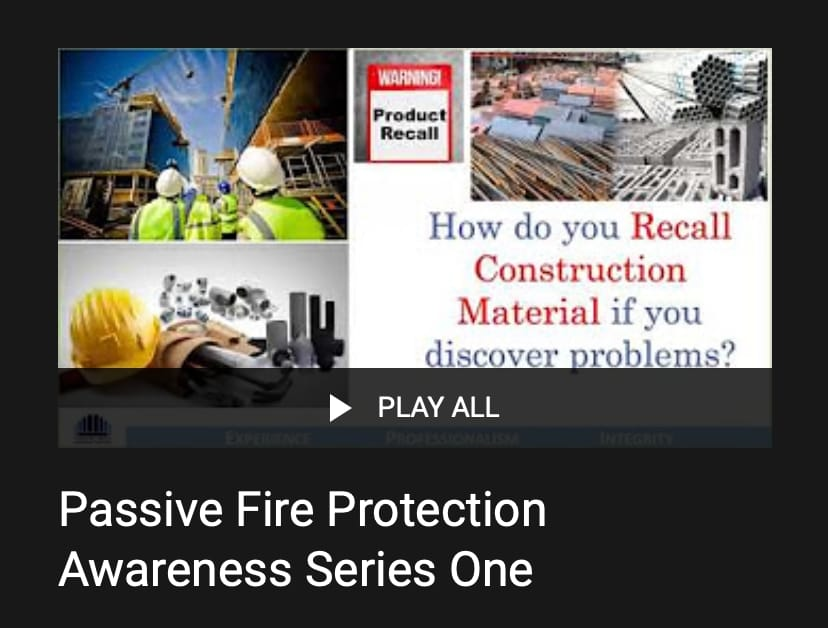 Passive Fire Protection Awareness Series One